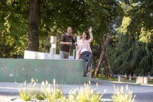 Fountain of beers Zeleno zlato Žalec