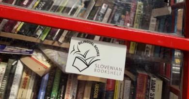 Slovenska knjižna polica s svojo govorilnico!