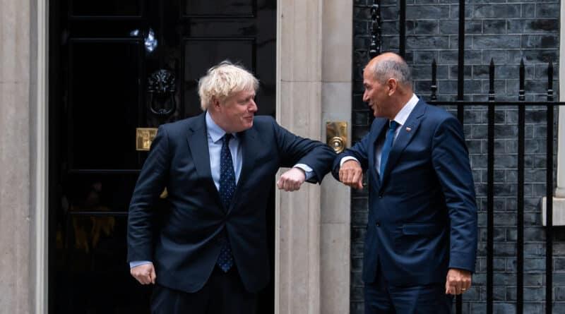 Predsednik vlade Janez Janša na delovnem obisku v Londonu